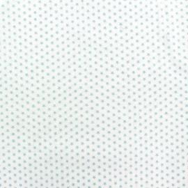 Tissu popeline Mini mini Stars bleu ciel/blanc x 10cm