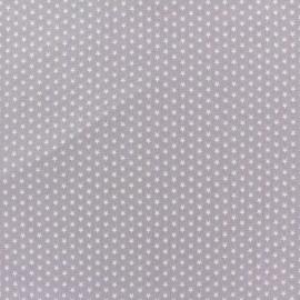 Tissu popeline Mini mini Stars blanc/taupe x 10cm