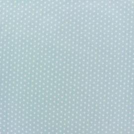 Tissu popeline Mini mini Stars blanc/ciel x 10cm
