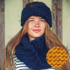 Gang of Two Head band & snood knitting kit - curry