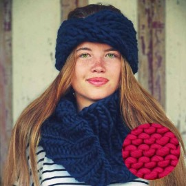 Gang of Two Head band & snood knitting kit - chunky cherry