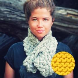 Lucette kit tricot écharpe - taxi jaune