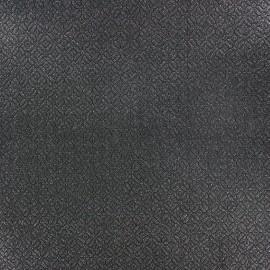 Tissu jacquard Shine paillettes argentées x 10cm
