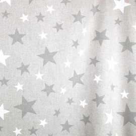 Coated cotton fabric Hollywood - grey x 10cm