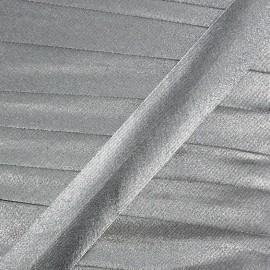 Lamé bias binding - silver