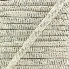 Bias binding - lurex /cotton stitch - ecru x 1m