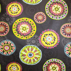 Coated cotton fabric Sonora - black x 63cm