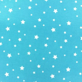 Coated cotton fabric Scarlet - turquoise x 10cm