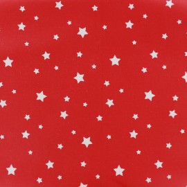 Coated cotton fabric Scarlet - red x 10cm