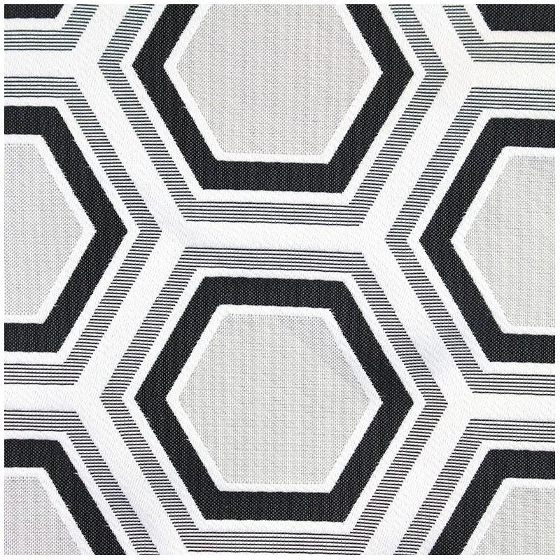 tissu tomette hexagone noir x 21cm ma petite mercerie. Black Bedroom Furniture Sets. Home Design Ideas