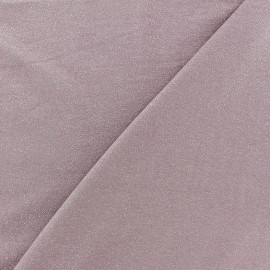 Light Sequined Viscose Jersey Fabric - old pink x 10cm