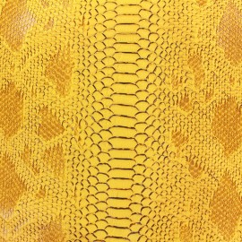 Simili cuir Comodo jaune x 10cm
