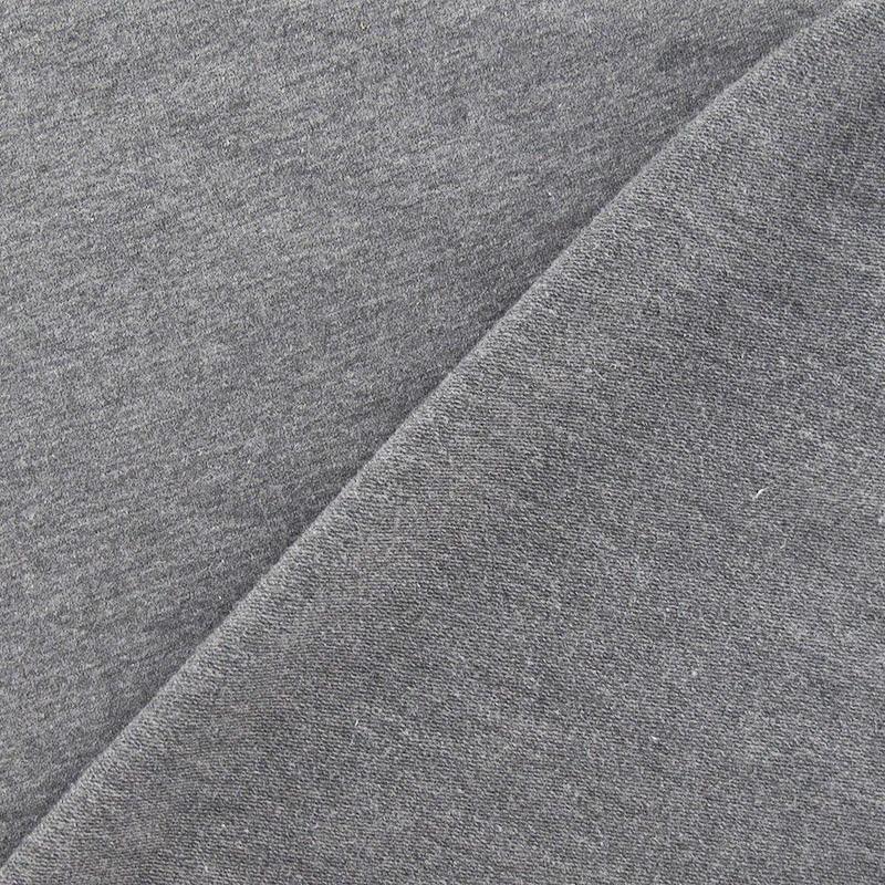 Tissu jogging jersey l ger gris anthracite x 10cm ma petite mercerie - Tissu gris anthracite ...