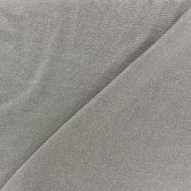 Tissu Maille viscose lurex Party taupe x 10cm