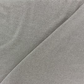 Viscose lurex Stitch Fabric Party - taupe x 10cm