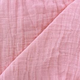 Tissu double gaze de coton Camelot Fabrics Bambino rose x 10cm