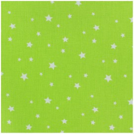 Coated cotton fabric Scarlet - lime x 10cm