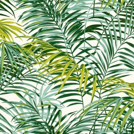 Tissu toile coton Palm Springs - vert x 10cm