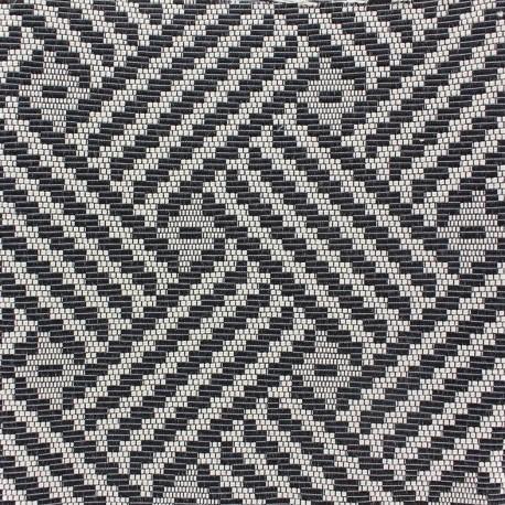 tissu vista noir et blanc x 10cm ma petite mercerie. Black Bedroom Furniture Sets. Home Design Ideas
