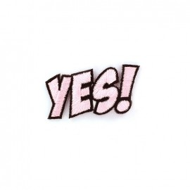 Yes ! Iron on  BD - pink
