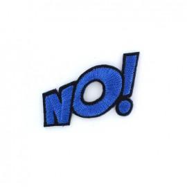 NO ! Iron on  BD - blue
