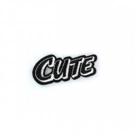 CUTE Iron on  BD - black