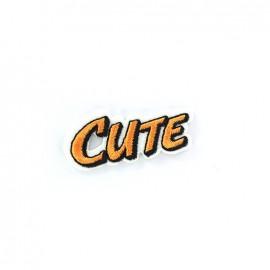 CUTE Iron on  BD - orange