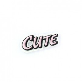CUTE Iron on  BD - pink