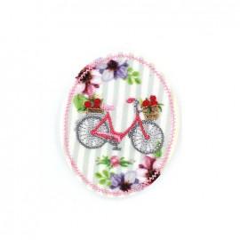 Nostalgia badge Iron on - bicycle