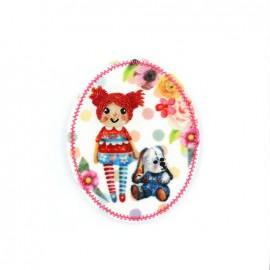 Nostalgia badge Iron on - doll