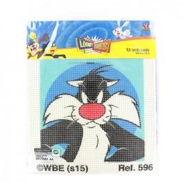 Canvas Kit Looney Tunes Mediums holes  - Sylvester