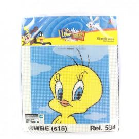 Canvas Kit Looney Tunes Mediums holes  - Tweety
