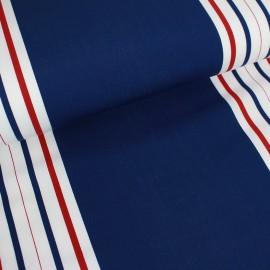Tissu toile transat Playa Cannes taupe/turquoise (43cm) x 10cm