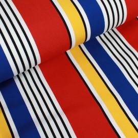 Deckchair canvas fabric MInorca (43cm) - red x 10cm