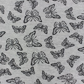 Fabric Jogging Butterfly - grey x 10cm
