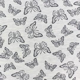 Fabric Jogging Butterfly - ecru x 10cm