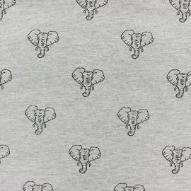 Tissu Jogging Elephant - écru x 10cm