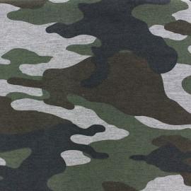 Fabric Jogging Camouflage - green x 10cm