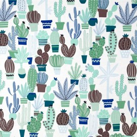 Cotton fabric Agave - blue x 31cm