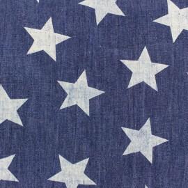 Tissu Jeans léger chambray Big Stars - bleu denim x 10cm