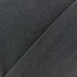 Tissu Lycra chambray - noir x 10cm