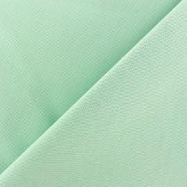 Tissu toile de coton uni CANEVAS vert d'eau x 10cm