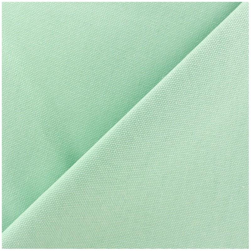 tissu toile de coton uni canevas vert d 39 eau x 10cm ma petite mercerie. Black Bedroom Furniture Sets. Home Design Ideas