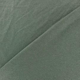 Light Sequined Viscose Jersey Fabric - military green x 10cm