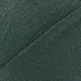 Light Sequined Viscose Jersey Fabric - pine tree green x 10cm