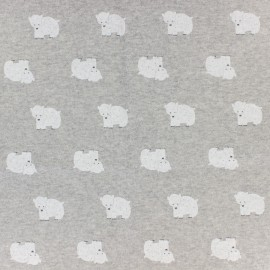 Sweat Fabric Ours - grey x 10cm