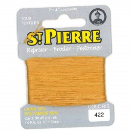 Laine Saint Pierre 40 M card Darning / embroidery - 422 Mustard