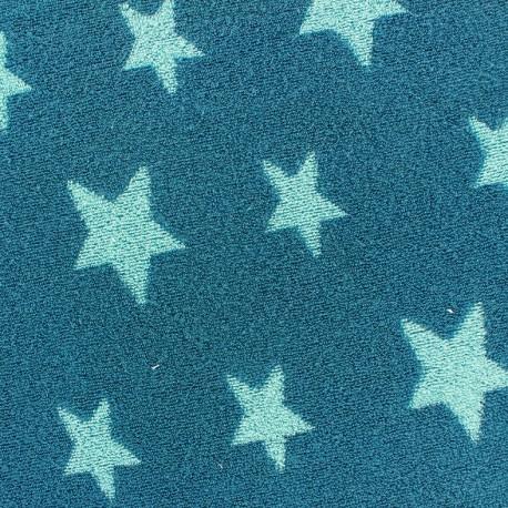 Tissu velours ponge coton stars turquoise bleu canard x 10cm ma petite mer - Tissu velours bleu canard ...