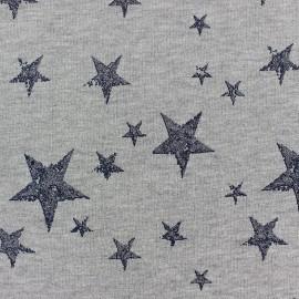 Tissu jogging Etoile Glitter - marine x 10cm