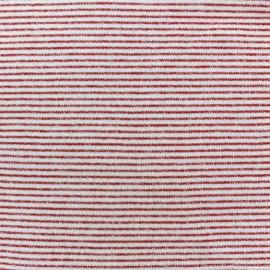Tissu jogging petite Marinière - rouge x 10cm
